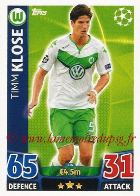 2015-16 - Topps UEFA Champions League Match Attax - N° 114 - Timm KLOSE (VFL Wolfsburg)