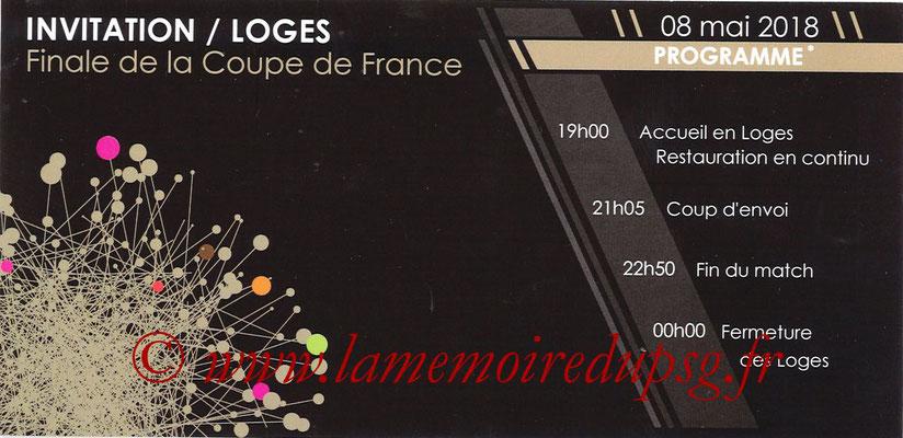 Invitation Loges  Les Herbier-PSG  2017-18