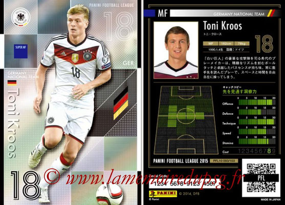 Panini Football League 2015 - PFL10 - N° 093 - Tony KROOS (Allemagne) (Super MF)