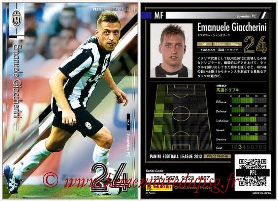 Panini Football League 2013 - PFL02 - N° 014 - Emanuele Giaccherini ( Juventus FC )