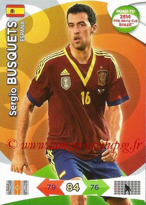 2014 - Panini Road to FIFA World Cup Brazil Adrenalyn XL - N° 077 - Sergio BUSQUETS (Espagne)