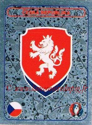 Panini Euro 2016 Stickers - N° 348 - Logo République Tchèque