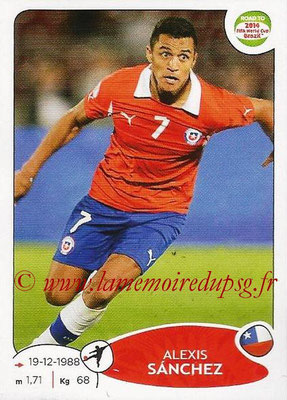 2014 - Panini Road to FIFA World Cup Brazil Stickers - N° 171 - Alexis SANCHEZ (Chili)