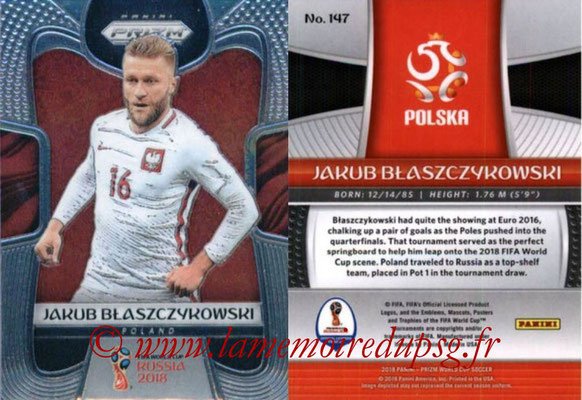 2018 - Panini Prizm FIFA World Cup Russia - N° 147 - Jakub BLASZCZYKOWSKI (Pologne)