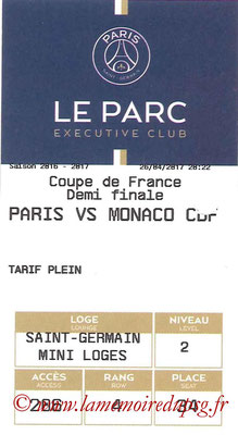Tickets  PSG-Monaco  2016-17