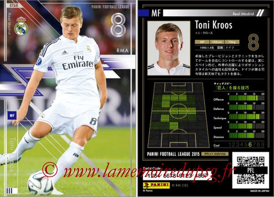 Panini Football League 2015 - PFL11 - N° 035 - Toni KROOS (Real Madrid) (Star)