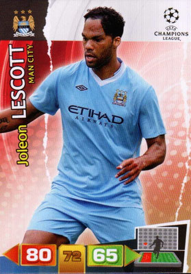 2011-12 - Panini Champions League Cards - N° 133 - Joleon LESCOTT (Manchester City FC)
