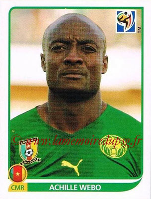 2010 - Panini FIFA World Cup South Africa Stickers - N° 409 - Achille WEBO (Cameroun)