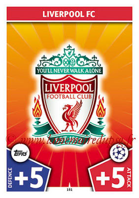 2017-18 - Topps UEFA Champions League Match Attax - N° 181 - Logo Liverpool FC (Club Badge)