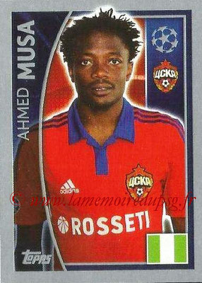 2015-16 - Topps UEFA Champions League Stickers - N° 129 - Ahmed MUSA (CSKA Moscou)