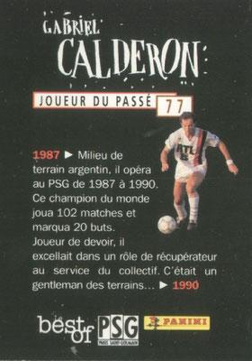 N° 077 - Gabriel CALDERON (Verso)