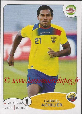 2014 - Panini Road to FIFA World Cup Brazil Stickers - N° 188 - Gabriel ACHILIER (Equateur)