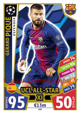 2017-18 - Topps UEFA Champions League Match Attax - N° 433 - Gerard PIQUE (FC Barcelone) (UCL All-Star XI)