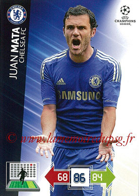 2012-13 - Adrenalyn XL champions League N° 098 - Juan MATA (Chelsea FC)