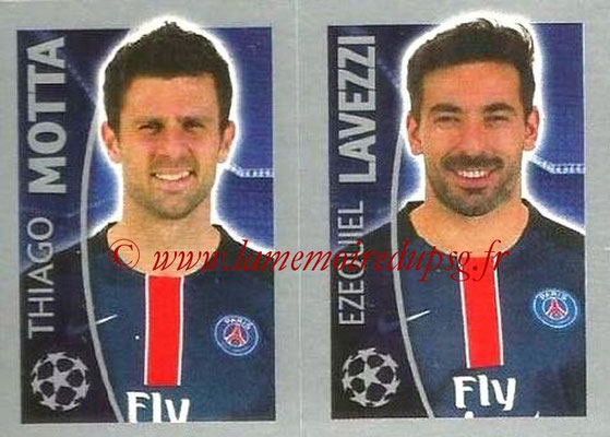 2015-16 - Topps UEFA Champions League Stickers - N° 031 - Thiago MOTTA + Ezequiel LAVEZZI (Paris Saint-Germain)