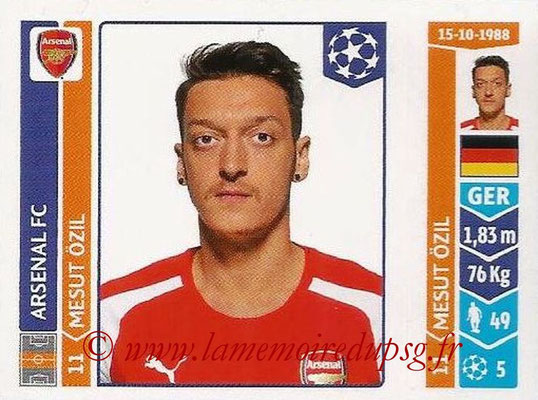 2014-15 - Panini Champions League N° 263 - Mesut OZIL (Arsenal FC)