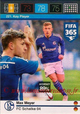 2015-16 - Panini Adrenalyn XL FIFA 365 - N° 221 - Max MEYER (Schalke 04) (Key Player)