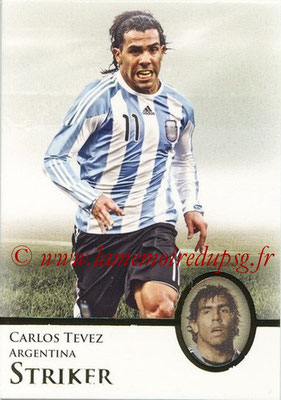2013 - Futera World Football Unique - N° 090 - Carlos TEVEZ (Argentine) (Striker)