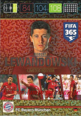 2015-16 - Panini Adrenalyn XL FIFA 365 - N° LE-RL - Robert LEWANDOWSKI (FC Bayern Munich) (Limited Edition)