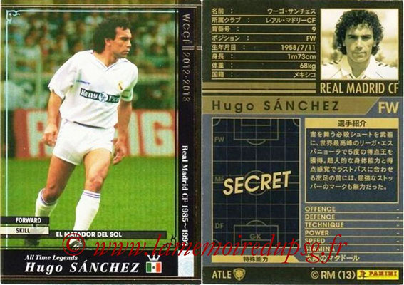 2012-13 - WCCF - N° ATLE6 - Hugo SANCHEZ (Real Madrid CF) (All Time Legend)