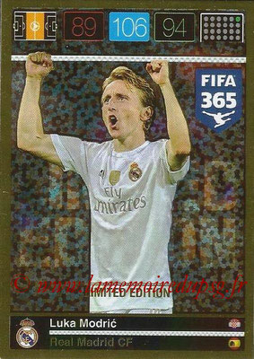 2015-16 - Panini Adrenalyn XL FIFA 365 - N° LE-LMO - Luka MODRIC (Real Madrid CF) (Limited Edition)