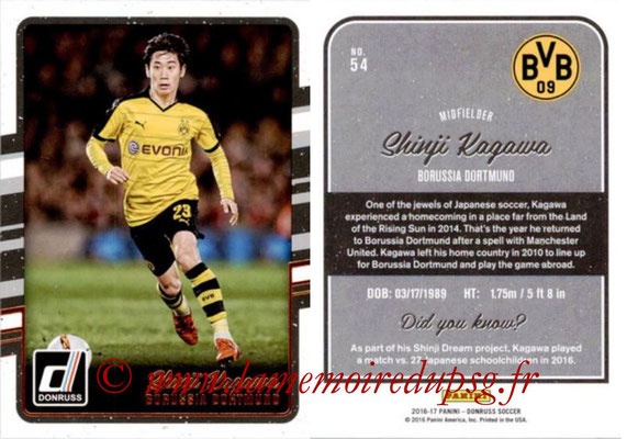 2016 - Panini Donruss Cards - N° 054 - Shinji KAGAWA (Borussia Dortmund)