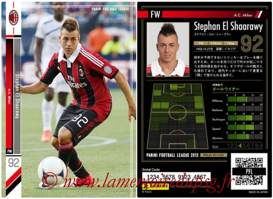 Panini Football League 2013 - PFL01 - N° 011 - Stephan El Shaarawy ( A.C. Milan )