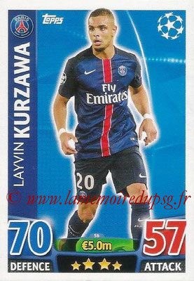 2015-16 - Topps UEFA Champions League Match Attax - N° 056 - Layvin KURZAWA (Paris Saint-Germain)