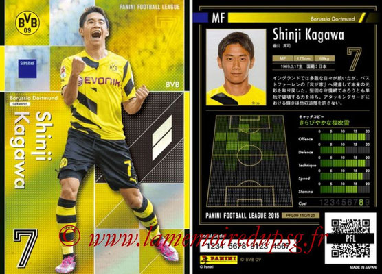 Panini Football League 2015 - PFL09 - N° 110 - Shinji KAGAWA (Borussia Dortmund) (Super MF)
