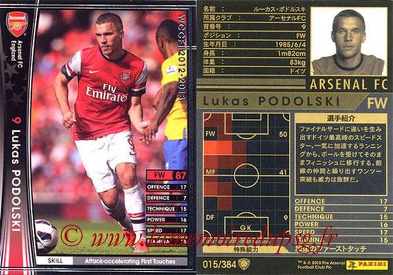 2012-13 - WCCF - N° 015 - Lukas PODOLSKI (Arsenal FC)