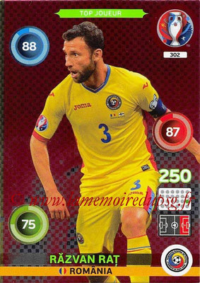 Panini Euro 2016 Cards - N° 302 - Razvan RAT (Roumanie) (Top Joueur)