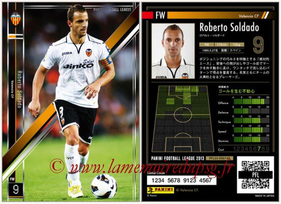 Panini Football League 2013 - PFL03 - N° 055 - Roberto Soldado (FC Valence)