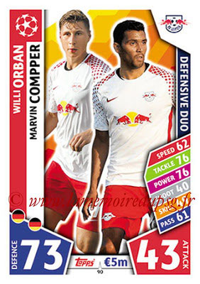 2017-18 - Topps UEFA Champions League Match Attax - N° 090 - Willi ORBAN + Marvin COMPPER (RB Leipzig) (Defensive Duo)