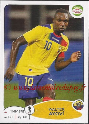 2014 - Panini Road to FIFA World Cup Brazil Stickers - N° 189 - Walter AYOVI (Equateur)