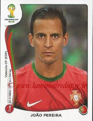2014 - Panini FIFA World Cup Brazil Stickers - N° 512 - Joao PEREIRA (Portugal)