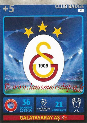 2014-15 - Adrenalyn XL champions League N° 015 - Logo Galatasaray AS (Club Badge)