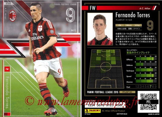 Panini Football League 2015 - PFL09P - N° 001 - Fernando TORRES (Milan AC) (Star)