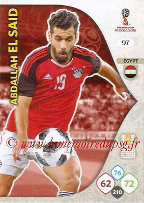 2018 - Panini FIFA World Cup Russia Adrenalyn XL - N° 097 - Abdallah EL SAID (Egypte)