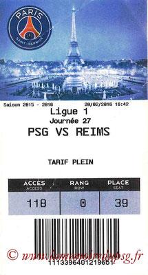 Tickets  PSG-Reims  2015-16