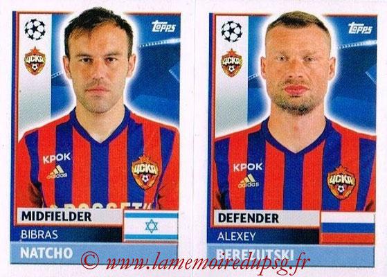 2016-17 - Topps UEFA Champions League Stickers - N° CSK 10-11 - Alexey BEREZUTSKI + Bibras NATCHO (CSKA Moscou)
