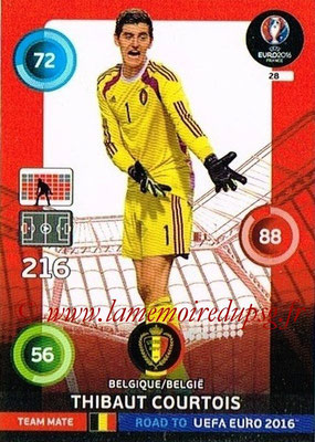 Panini Road to Euro 2016 Cards - N° 028 - Thibaut COURTOIS (Belgique)