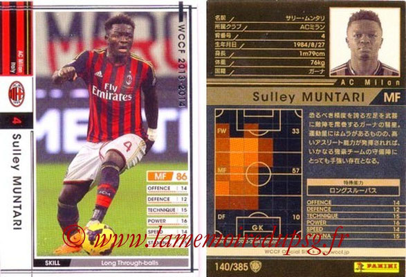 2013-14 - WCCF - N° 140 - Sulley MUNTARI (Milan AC)