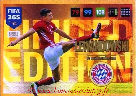 2016-17 - Panini Adrenalyn XL FIFA 365 - N° LE19 - Robert LEWANDOWSKI (FC Bayern Munich) (Limited Edition)