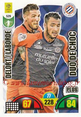 2018-19 - Panini Adrenalyn XL Ligue 1 - N° 529 - Andy DELORT + Gaétan LABORDE (Montpellier) (Duo de Choc Plus)