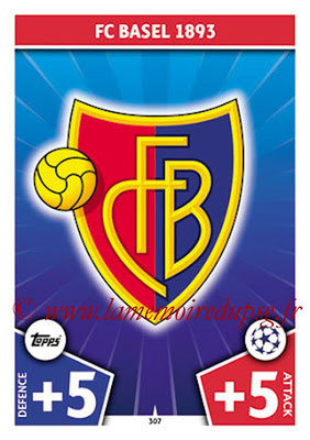 2017-18 - Topps UEFA Champions League Match Attax - N° 307 - Logo FC Bâle (Club Badge)
