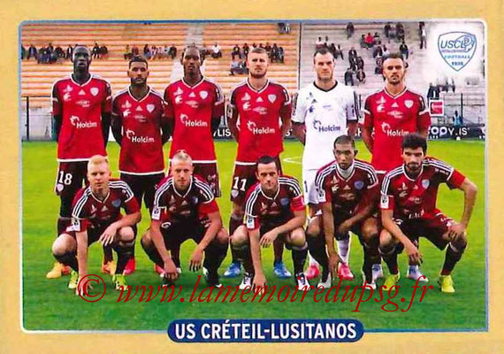 2015-16 - Panini Ligue 1 Stickers - N° 492 - Equipe US Créteil-Lusitanos