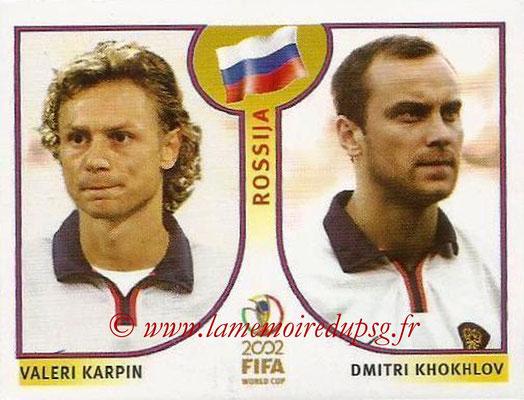 2002 - Panini FIFA World Cup Stickers - N° 526 - Valeri KARPIN + Dmitri KHOKHLOV (Russie)