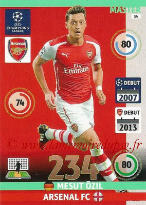 2014-15 - Adrenalyn XL champions League N° 054 - Mesut ÖZIL (Arsenal FC) (Master)