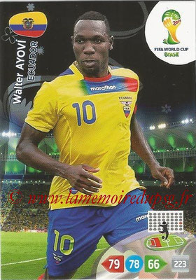 2014 - Panini FIFA World Cup Brazil Adrenalyn XL - N° 120 - Walter AYOVI (Equateur)