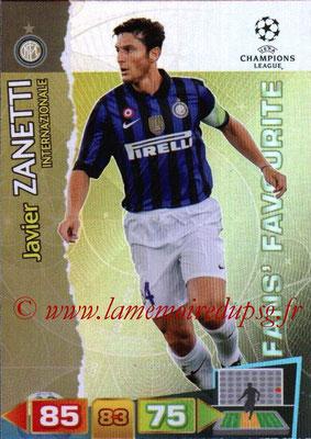 2011-12 - Panini Champions League Cards - N° 307 - Javier ZANETTI (Inter Milan) (Fans' Favourite)